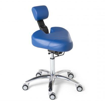 BQE Dynamic ergonomische werkstoel in de kleur blauw