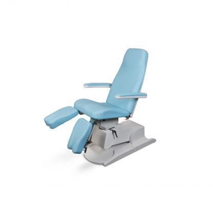 SB Design pedicure behandelstoel in de kleur licht blauw